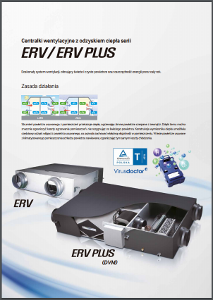 Centralki wentylacyjne ERV