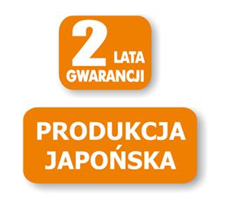 gwarancja 2 lata zibro - japońska produkcja